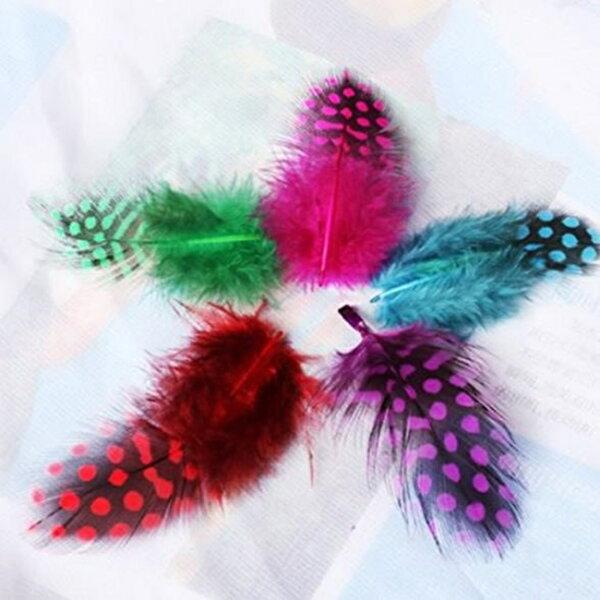 野雞毛雞毛棒(10入)逗貓棒羽毛雞毛染色羽毛手工藝用品蝶谷巴特軟羽毛【塔克】