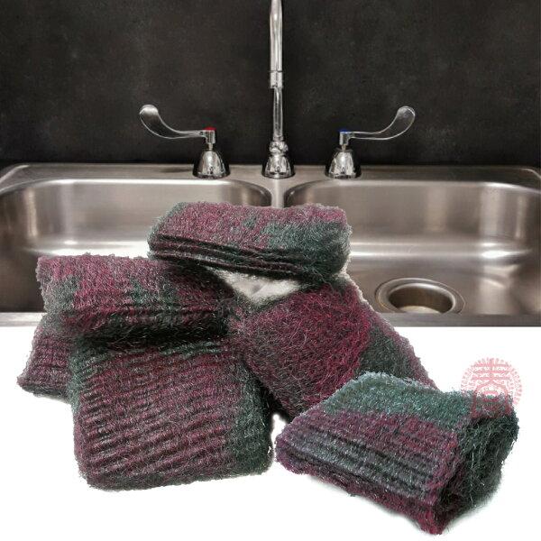 派樂美國人的萬用皂刷(4盒40入贈雪尼爾方巾5條)天然植物皂刷金屬棉鋼絲球萬能清潔刷鋼絲刷強力去汙去油垢殘膠萬用清潔皂刷