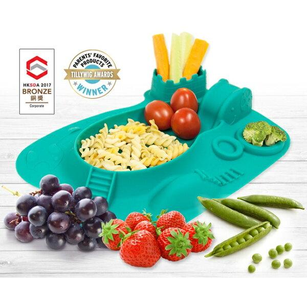 加拿大【MARCUS&MARCUS】動物樂園遊樂造型餐盤-大象(綠)