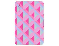 Speck StyleFolio iPad mini 4 多角度側翻皮套 - 紅粉菱格/紫紅色/桃紅