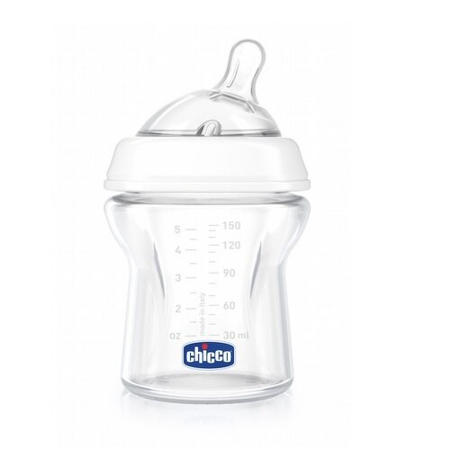 Chicco 天然母感兩倍防脹玻璃奶瓶150ml(小單孔)★衛立兒 館★