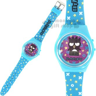 〔小禮堂〕酷企鵝 兒童電子錶《藍.星星滿版》塑膠外殼包裝
