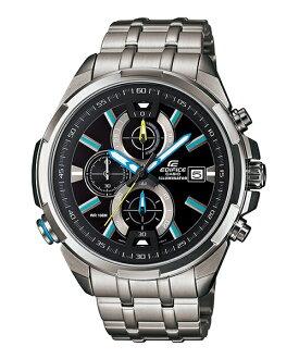 CASIO EDIFICE EFR-536D-1A2 LED霓虹賽車腕錶/黑面48mm