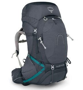 【Osprey美國】AURAAG65輕量登山背包自助旅行健行背包網架背包女款聖潔灰〈容量62L〉/AuraAG65