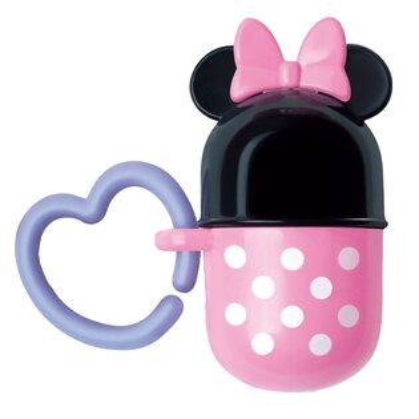 日本【迪士尼Disney】米妮顆粒收納罐(圓盒)