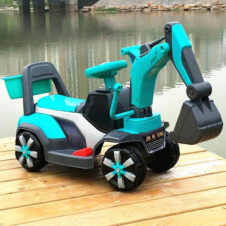 玩具車 兒童電動挖掘機男孩玩具車挖土機可坐可騎大號鉤機不帶遙控工程車  凱斯頓 新年春節 送禮