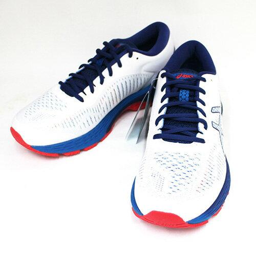 ASICS亞瑟士男慢跑鞋GEL-KAYANO25亞瑟膠緩衝支撐1011A019-100白藍{陽光樂活}
