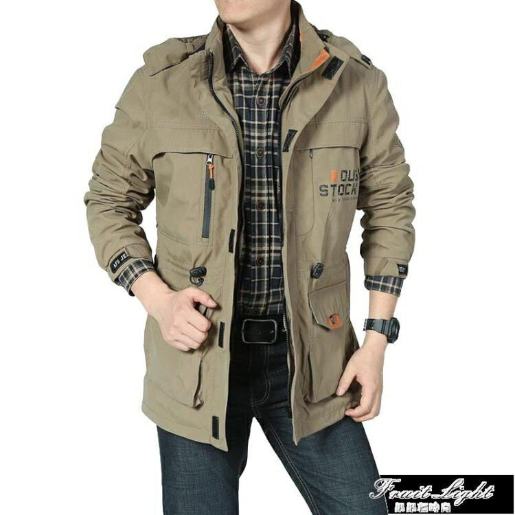 夾克男士新款沖鋒外套速干彈力帥氣多袋夾克衫男士登山上衣 雙十一新品特惠