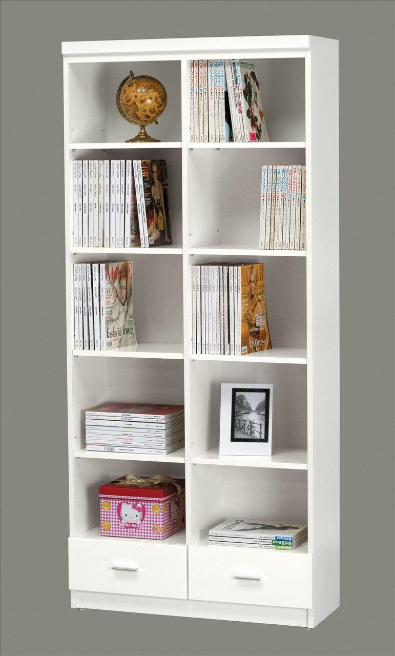 【石川家居】KM-904-3 米洛斯2.7尺開放書櫃 (不含其他商品) 高雄到台北滿五千享折扣