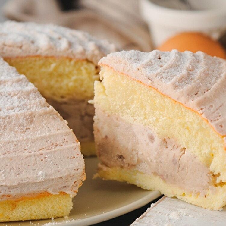 重芋泥波士頓  蛋糕6吋【免 】- 大甲新鮮芋頭慢火蒸熟,製成香濃芋泥餡 低糖芋泥丁口感香醇濃郁~~~~
