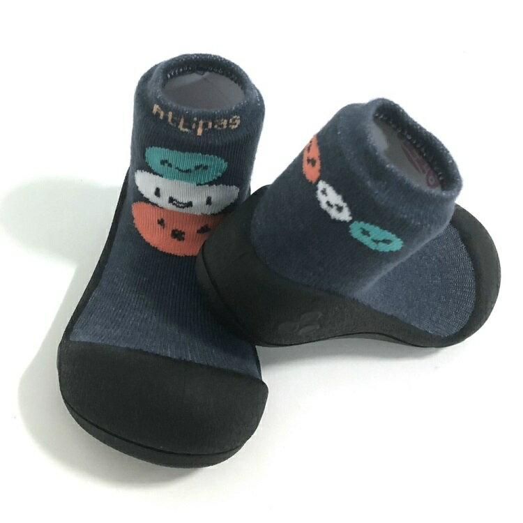 【任2雙$1099】韓國【Attipas】快樂腳襪型學步鞋- 黑底麻吉