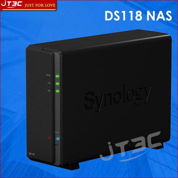 JT3C:【最高折$350】Synology群暉科技DiskStationDS118NAS(1BayRealtek1GB)網路儲存伺服器(不含硬碟)