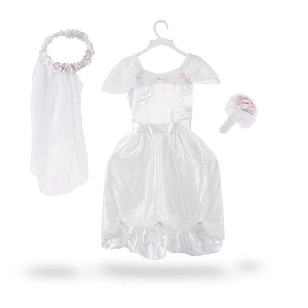 【免運費】《 萬聖節服裝 》美國 Melissa & Doug- 角色服裝 - 新娘白紗