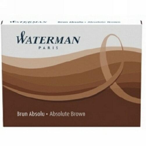 【華特曼WATERMAN】卡式墨水棕W01109308入盒
