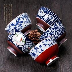 ★堯峰陶瓷★免運限量★有田燒 30年歷史陶瓷廠的設計 日本有田燒5入碗組 西海陶器 古染繪變 彩盒[五入碗]