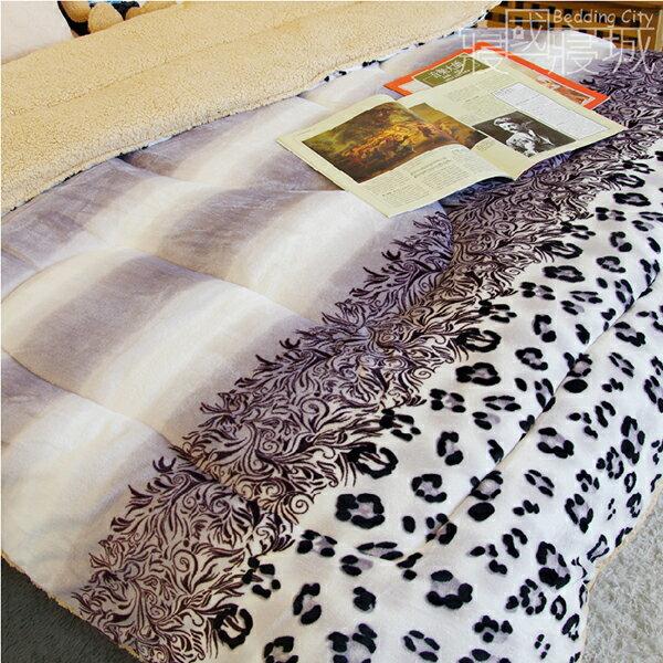 法蘭羊羔絨暖暖被毯-紫醉迷情【華麗豹紋、極暖、可當棉被使用 】#內充棉 #寢國寢城 4