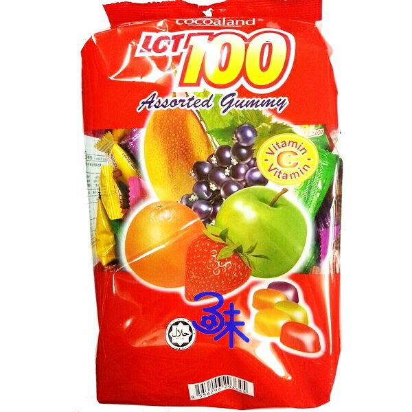 (馬來西亞) LOT 100 一百份綜合水果味QQ軟糖 (慧鴻馬來西亞綜合QQ糖/100分綜合水果糖 100百份綜合水果味QQ軟糖) 1包 1000公克 特價 248元【9556296203645】 ..
