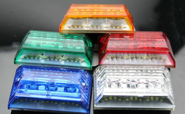 20珠超亮加強版24V側邊照地燈大卡拖板車警示燈邊燈側燈日行燈大卡拖板車27W警示燈工程燈爆閃燈