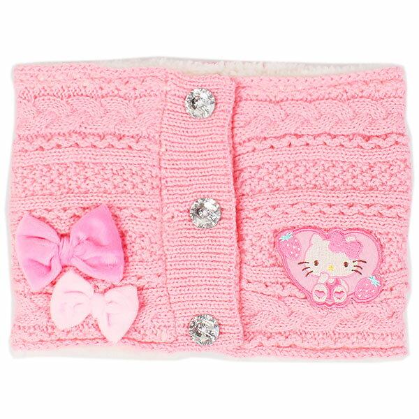 三麗鷗 Sanrio HelloKitty 凱蒂貓 粉紅 兒童 頸圍 脖圍