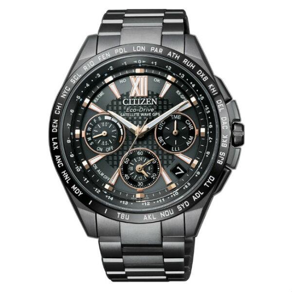 大高雄鐘錶城:CITIZEN星辰錶CC9017-59G旗艦款鈦金屬類鑽鍍膜GPS衛星對時光動能腕錶黑面44mm