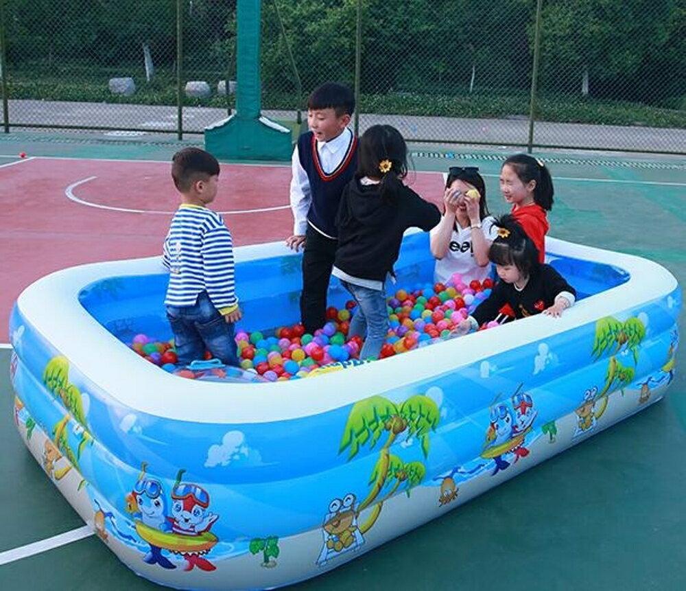 充氣泳池 兒童游泳池加厚兒童家用寶寶游泳桶小孩成人超大號家庭戲水池【天天特賣工廠店】
