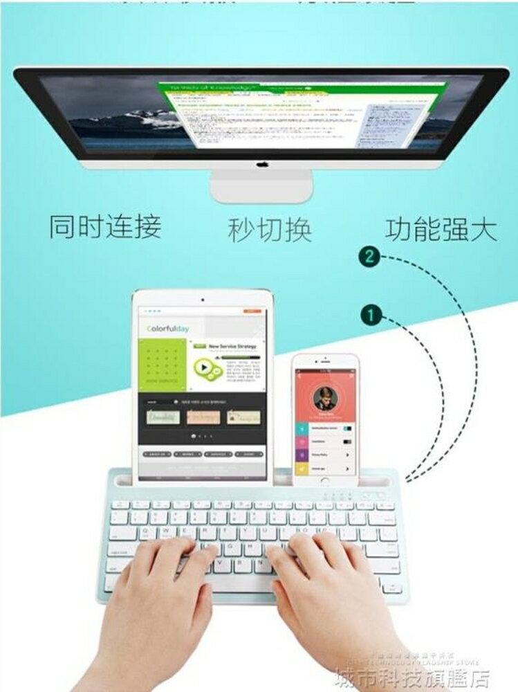ipad鍵盤 ipad無線藍芽鍵盤ipad迷你蘋果手機鍵盤平板ipad pro10.5鍵盤新款通 清涼一夏特價