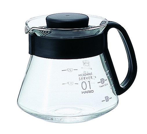 HARIO XVD-36B 黑色微波耐熱咖啡壺/360ml