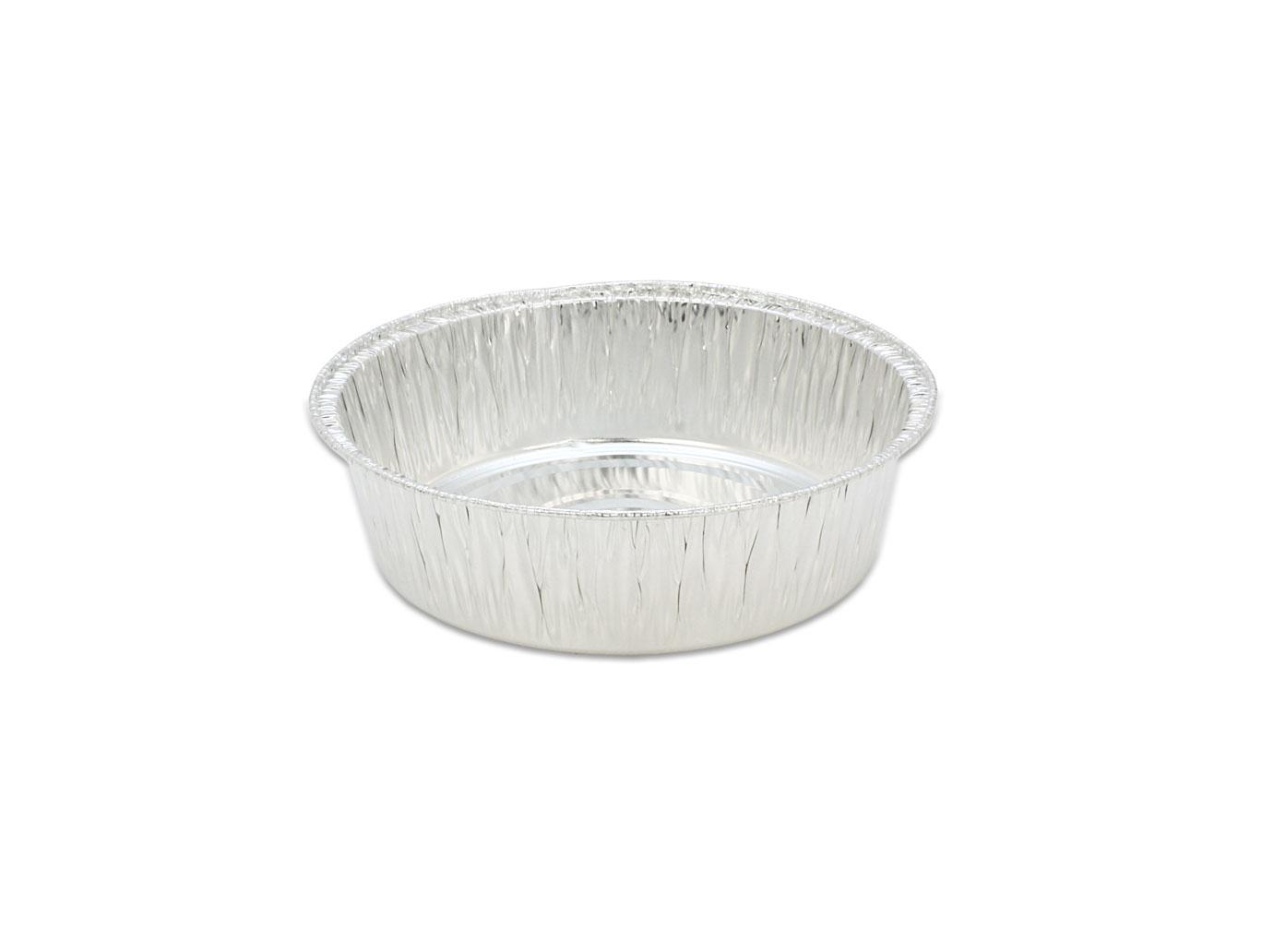 鋁箔容器、錫箔、烤模、 5吋蛋糕模、圓形 602 (100pcs/包)(透明蓋)