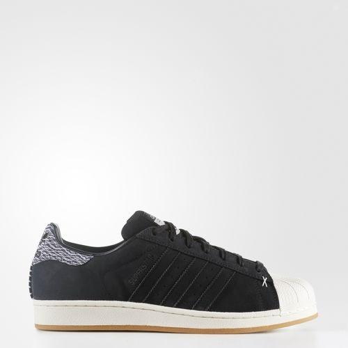 ADIDAS Superstar 男鞋 休閒鞋 麂皮 貝殼頭 膠底 黑 白 【運動世界】 B27737