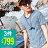 ☆BOY-2☆【NC6033】舒棉質感細條紋V領短T-4色 現+預 0