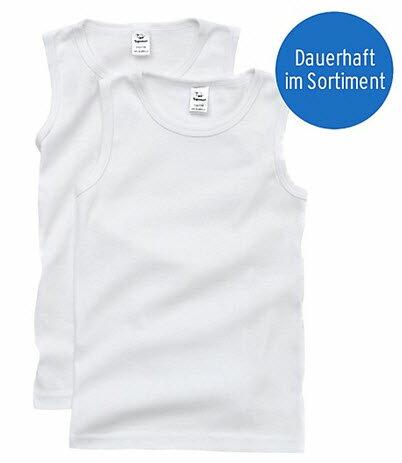 爆款童裝(剪標2入特價) 有機精棉純棉白色透氣打底背心/兒童內衣/睡衣 [T1019]