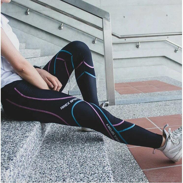 【台灣製-強效專業款】AREX SPORT 女款萊卡經典強力包覆壓縮褲-二代  壓力褲 內搭褲 束褲 緊身褲 XS-XL 6