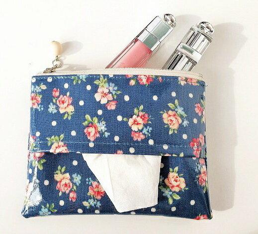 日本mimosa面紙包 零錢包 化妝包 (玫瑰花園) 100%日本製