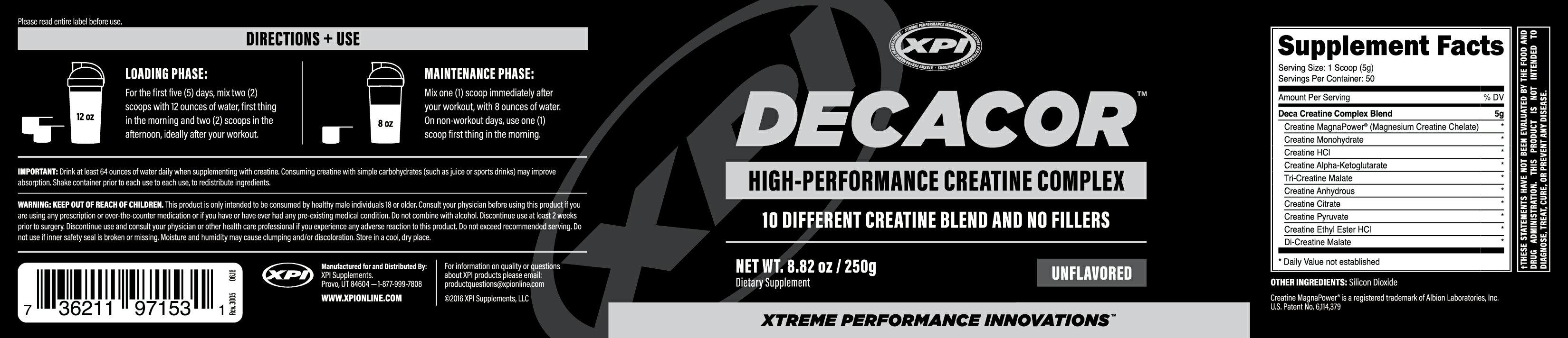 XPI Decacor Creatine - Best Creatine Powder - Uses 10 Different Forms of  Creatine 2