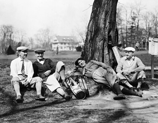 Golfers C1926 Namerican Politicians Waiting Their Turn On The Golf Course At The Chevy Chase Club Outside Of Washington DC Left To Right Herbert W Taylor William N Jardine Albert H Vestal And William c27b6372f135300f918a1c529136de23