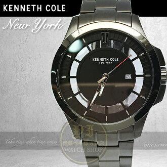 Kenneth Cole國際品牌簡約鏤空紳士腕錶KC10027462公司貨/設計師/禮物/國際精品