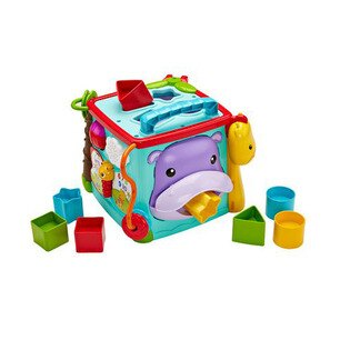 【奇買親子購物網】費雪牌Fisher-Price可愛動物積木盒