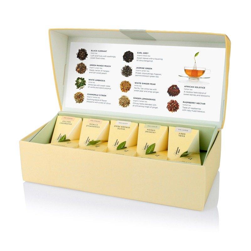 Tea Forte 10入金字塔型絲質茶包 - 饗茶集錦 Petite Box - Tea Tasting Assortment 2
