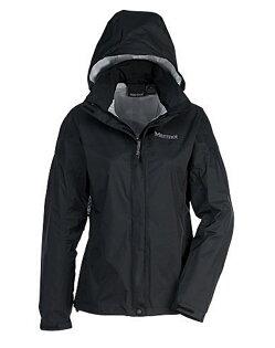 【【蘋果戶外】】marmot46200-0001黑色美國女PreCip土撥鼠防水外套類GORE-TEX防風外套風衣雨衣風雨衣