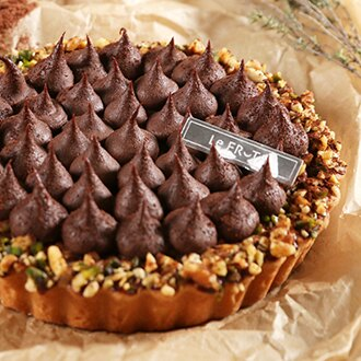 LeFRUTA朗芙*6吋比利時生巧克力塔/生巧克力塔/經典限定/職人精神/純手工製作/比利時頂級嘉麗寶60.1%苦甜巧克力使用/法國鐵塔牌鮮奶油/醇厚可可風味