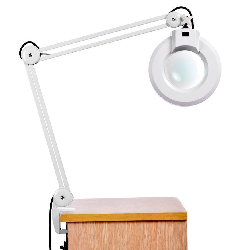 8X Desk Table Clamp Mount Rolling Adjustable Magnifier Lamp Light Magnifying Glass Len 110V US Plug 0