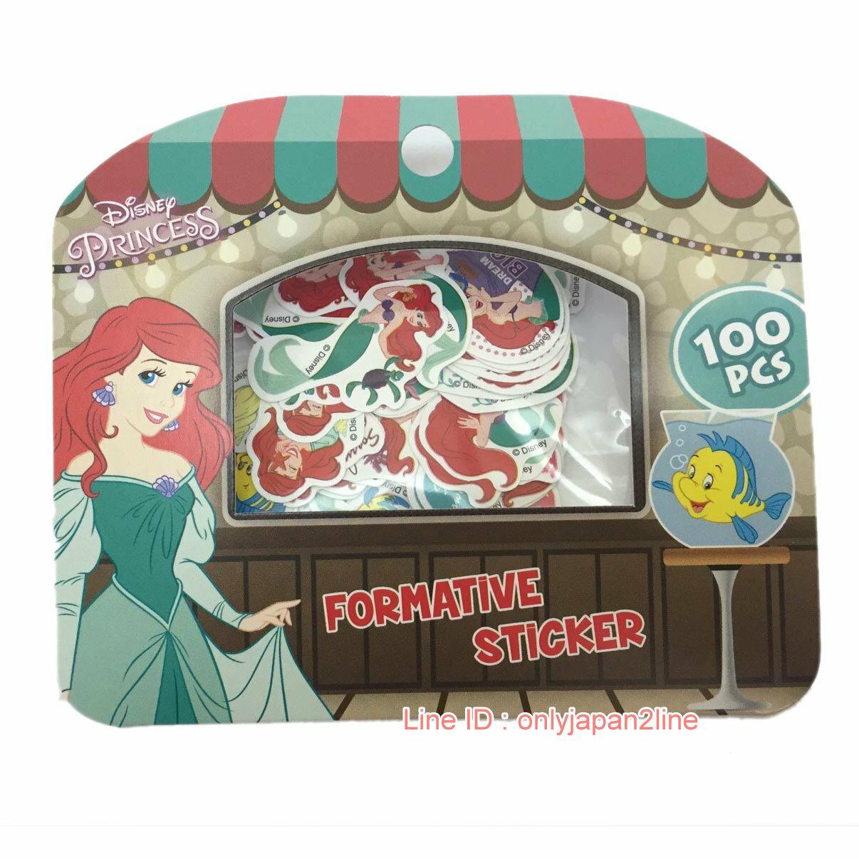 【真愛日本】17022300019迪士尼顆粒包貼紙-小美人魚  迪士尼 小美人魚 The Little Mermaid  正品 貼紙