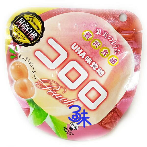 (日本) UHA コロロ 味覺糖 Kororo軟糖-  水蜜桃 1組3包 ( 40公克*3包) 特價 168 元【4902750665514】( 味覺可洛洛Q糖 KORORO極鮮QQ軟糖 ) 賞味期限 20170523