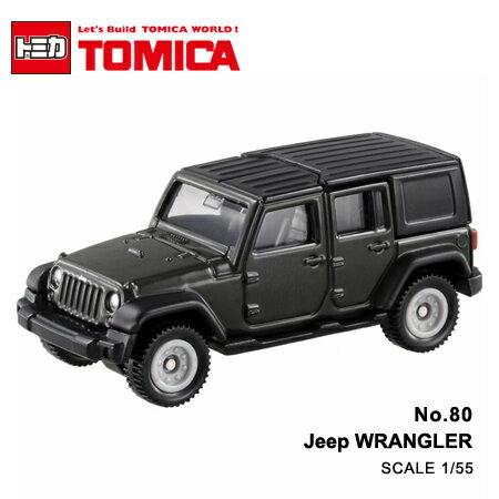 日貨 TOMICA No.80 Jeep WRANGLER 黑色吉普車 真車系列 汽車模型 多美小汽車【N201647】