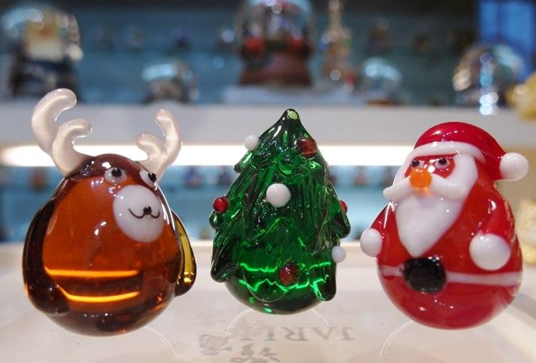 讚爾藝術 JARLL 聖誕玻璃小擺飾 聖誕老人 聖誕樹 麋鹿 聖誕