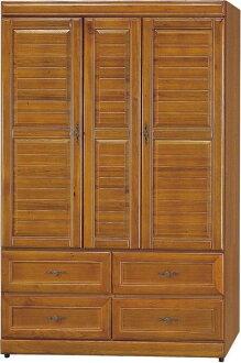 【石川家居】EF-126-4 施勝發正樟木4*6尺實木衣櫃 (不含其他商品) 需搭配車趟