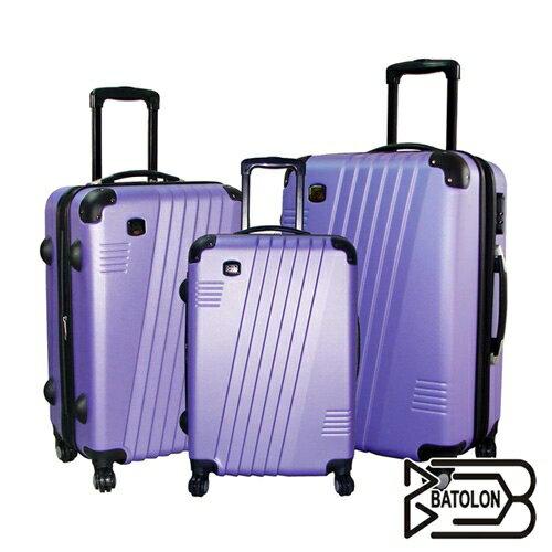 <br/><br/>  BATOLON 時尚斜線條ABS行李箱20吋-紫【愛買】<br/><br/>