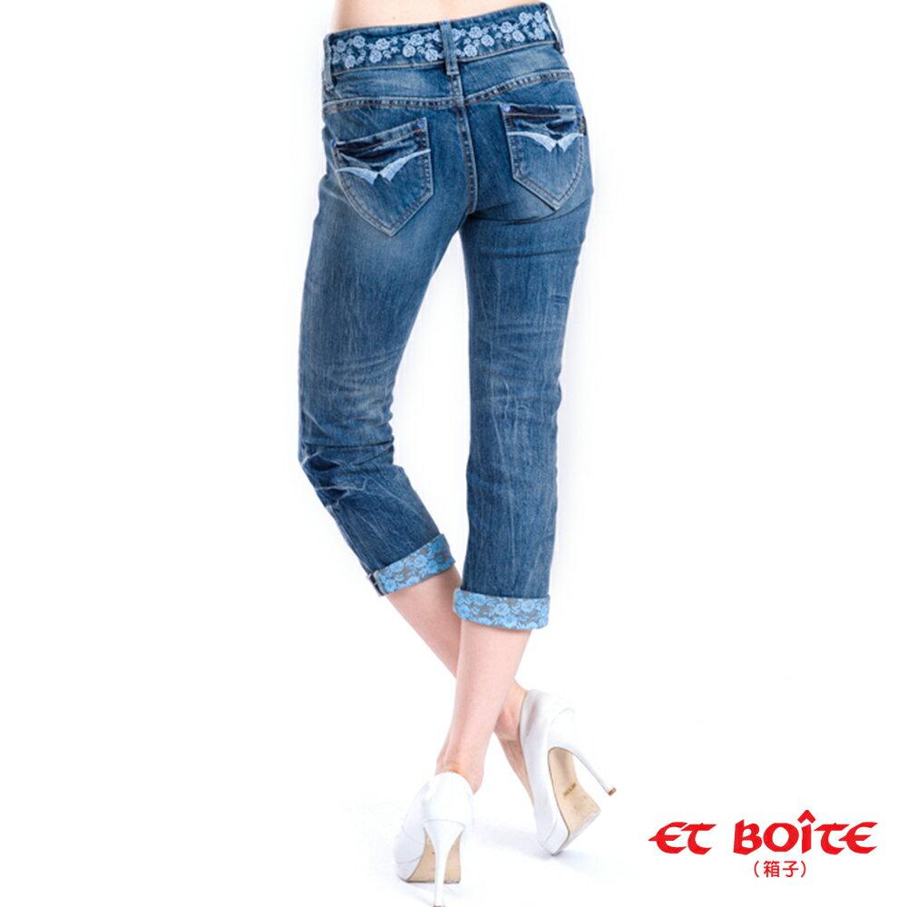 【990元優惠↘】花朵九分直筒牛仔褲 - BLUE WAY  ET BOiTE 箱子 1