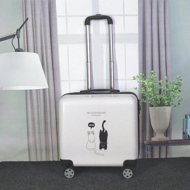 登機箱女18寸網紅行李箱小型輕便拉桿箱20密碼旅行箱女行李箱