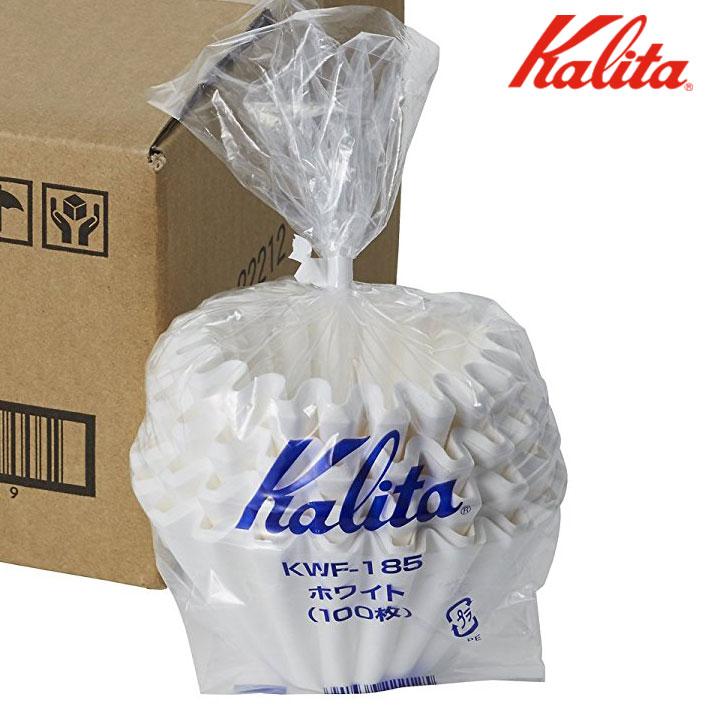 Kalita 185 酵素漂白 波浪型濾紙/蛋糕型濾紙 2~4人( 100入 )